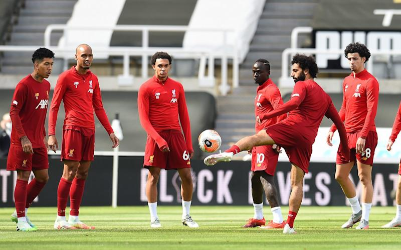 Liverpool Team Training before the Premier League match between Newcastle United and Liverpool FC at St. James Park - GETTY IMAGES