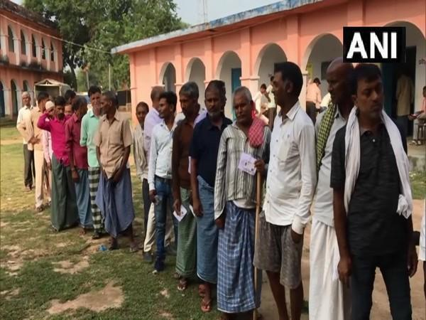 Visuals from polling station in Gaya (Photo/ANI)