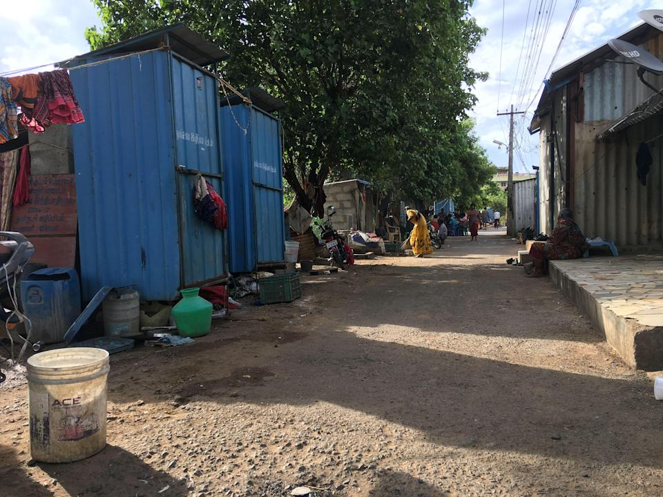 The corporation had set up makeshift spaces for toilets but the Narikuruvars have been using them as storage units.