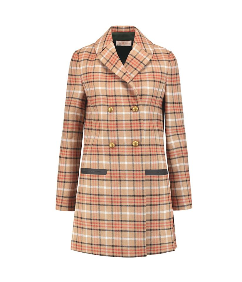 "<p></p><p><span>Plaid Twill Coat, $228, <a rel=""nofollow"" href=""https://www.theoutnet.com/en-US/Shop/Product/Tory-Burch/Plaid-twill-coat/790148"">theoutnet.com</a></span> </p><p>  </p><p></p>"