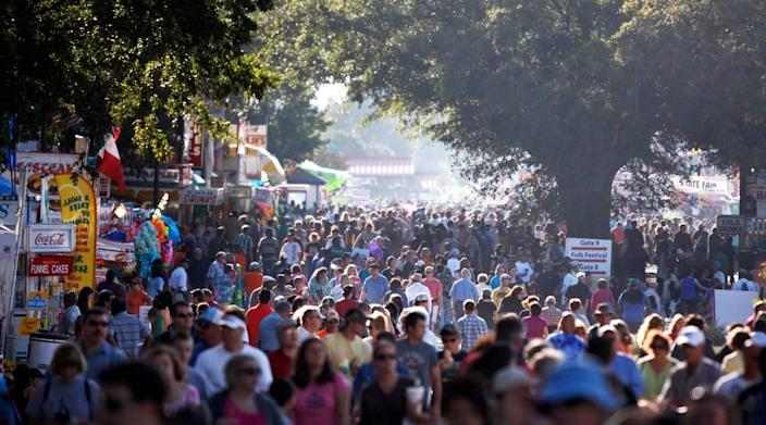 The scene at the North Carolina State Fair in 2010, a year that saw the fair's highest attendance records.