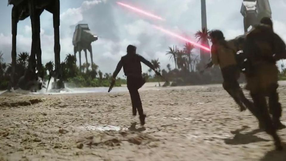 <p>Here's another impressive shot from that escape sequence. Credit: Lucasfilm/Disney </p>