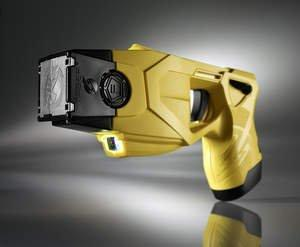 The TASER(R) X26P(TM) conducted energy weapon (CEW) with dual shot capability. The use of TASER CEWs has saved more than 100,000 lives from potential death or serious injury. Photo courtesy of TASER International, Scottsdale, AZ Click here for high-resolution version