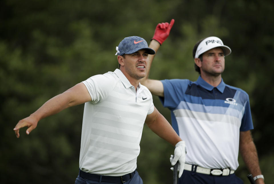 When he's not winning majors, Brooks Koepka is generally bagging on his fellow golfers. (AP Photo/Seth Wenig)