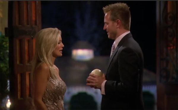 "Travis approached Emily clutching an egg, and proceeded to say, ""This egg is a symbol  of some beautiful people, you and Ricki, and throughout this journey I  will take care of this egg like I would take care of you and Ricki.""  Stretching a bit for that metaphor, huh, Travis?"