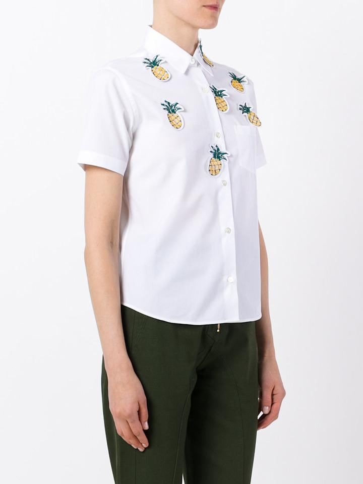 """<p>Jimi Roos Pineapple Detail Shirt, $157, <a rel=""""nofollow"""" href=""""https://www.polyvore.com/jimi_roos_pineapple_detail_shirt/thing?id=207018834"""">farfetch.com</a><br /><br /></p>"""
