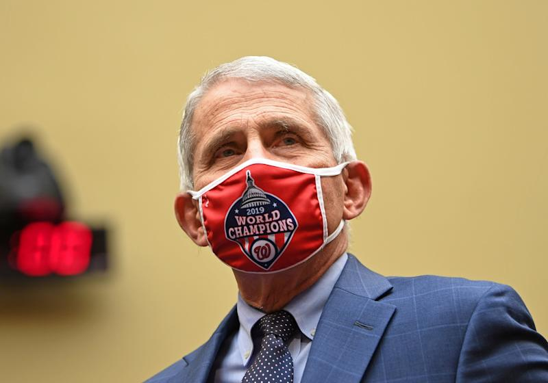 Anthony Fauci, director of the National Institute for Allergy and Infectious Diseases, arrives to testify before the House Select Subcommittee on the Coronavirus Crisis hearing: REUTERS