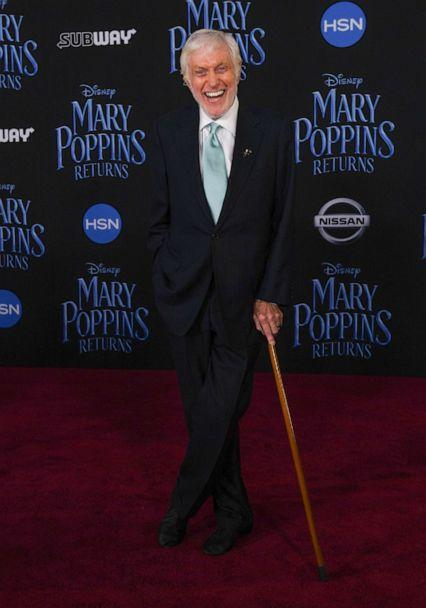 PHOTO: In this Nov. 29, 2018, file photo, Dick Van Dyke arrives for the world premiere of Disney's 'Mary Poppins Returns' at the Dolby theatre in Hollywood, Calif. (Valerie Macon/AFP via Getty Images, FILE)