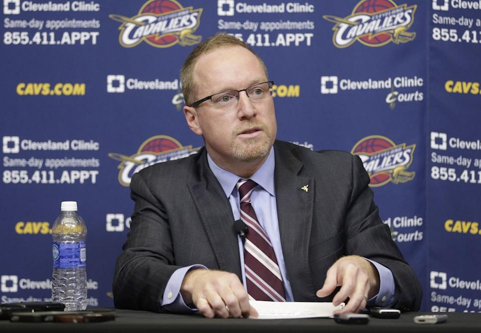 David Griffin was the front-office architect of Cleveland's 2016 NBA championship team. (AP)