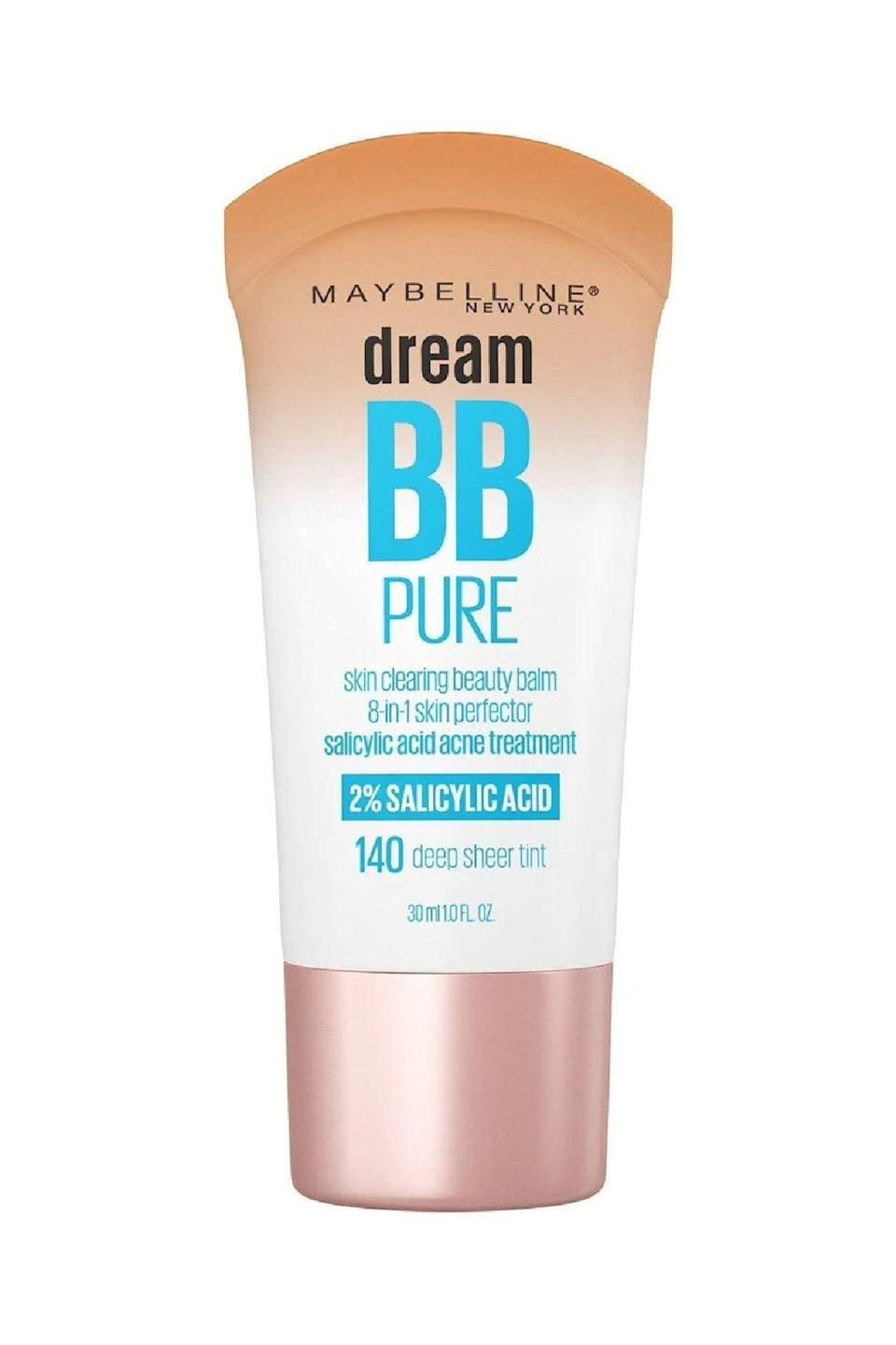 """<p><strong>Maybelline</strong></p><p>ulta.com</p><p><strong>$8.99</strong></p><p><a href=""""https://go.redirectingat.com?id=74968X1596630&url=https%3A%2F%2Fwww.ulta.com%2Fdream-pure-bb-cream-skin-clearing-perfector%3FproductId%3DxlsImpprod10721037&sref=https%3A%2F%2Fwww.marieclaire.com%2Fbeauty%2Fmakeup%2Fg3427%2Fbest-bb-creams%2F"""" rel=""""nofollow noopener"""" target=""""_blank"""" data-ylk=""""slk:SHOP IT"""" class=""""link rapid-noclick-resp"""">SHOP IT</a></p><p>Maybelline's best-selling BB cream includes the welcome addition of salicylic acid, a gentle exfoliant that works to loosen up dead skin cells that can cause blackheads. </p>"""