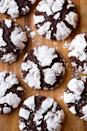 """<p>Clabber Girl baking powder got its start in Terre Haute, and the ingredient is still a key for making chocolate crinkle cookies. The powder gives the cookies just the right amount of lift and spread to form those tantalizing cracks on top.</p><p>Get the recipe from <a href=""""https://www.cookingclassy.com/chocolate-crinkle-cookies/"""" rel=""""nofollow noopener"""" target=""""_blank"""" data-ylk=""""slk:Cooking Classy"""" class=""""link rapid-noclick-resp"""">Cooking Classy</a>.</p>"""