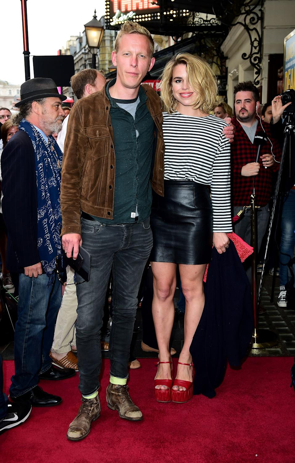 Laurence Fox (left) and Billie Piper attending the first night of new play Dear Lupin at the Apollo Theatre, London.