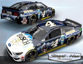 This will be the paint scheme Kevin Harvick's No. 4 Ford will carry in this weekend's Cup doubleheader at Pocono Raceway. Photo: Stewart-Haas Racing.