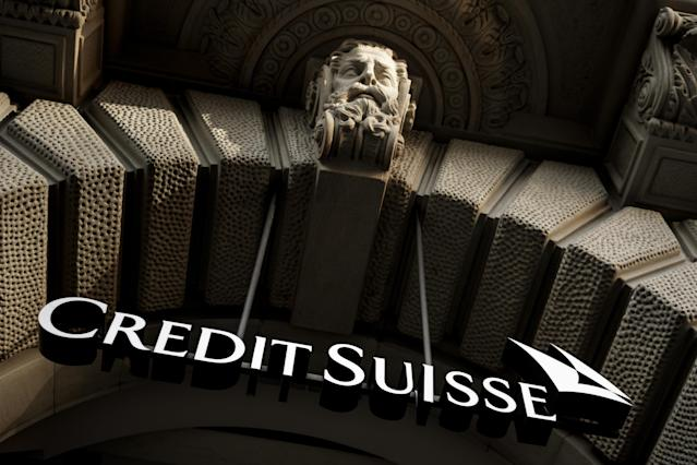 The logo of Swiss banking giant Credit Suisse. Photo: Fabrice Coffrini/AFP via Getty Images