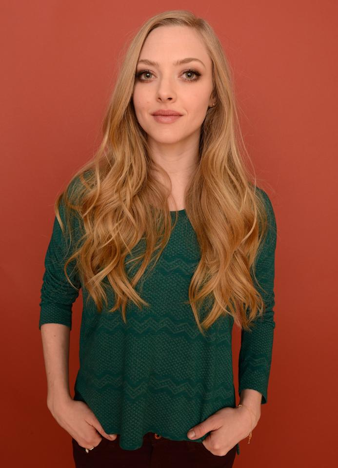 PARK CITY, UT - JANUARY 22:  Actress Amanda Seyfried poses for a portrait during the 2013 Sundance Film Festival at the Getty Images Portrait Studio at Village at the Lift on January 22, 2013 in Park City, Utah.  (Photo by Larry Busacca/Getty Images)