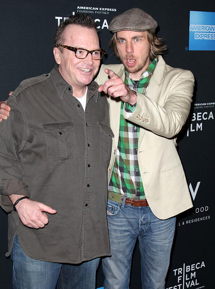 "<p class=""MsoNoSpacing"">Sure, they're both really funny, but you would think the 17 years between Dax Shepard and Tom Arnold would mean they have different senses of humor … not so! The two first met years ago when the ""Parenthood"" actor starred on Ashton Kutcher's ""Punk'd"" and have been tight ever since. In fact, when Arnold walked down the aisle for the fourth time in 2009, Shepard was his best man! </p>"