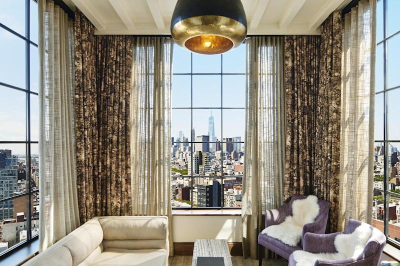Room with a view: The Skybox at The Ludlow hotel in New York: The Ludlow
