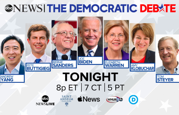 How to Watch and Stream ABC News' Democratic Debate