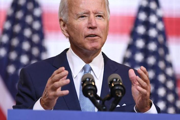 Emerging from months of Covid-19 travel restrictions, Joe Biden has found himself suddenly on the defensive, mocked by Donald Trump as weak in the face of chaotic unrest in several US cities