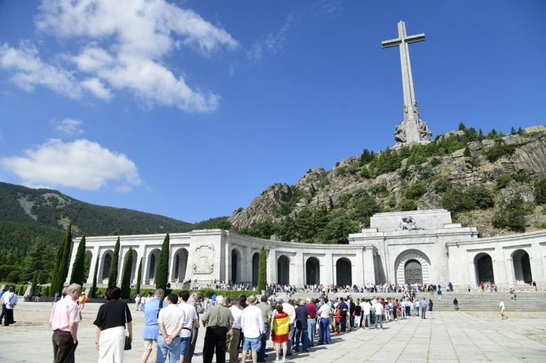 A long line to visit the tomb of Spanish dictator Franco in the Valley of the Fallen before his remains are moved