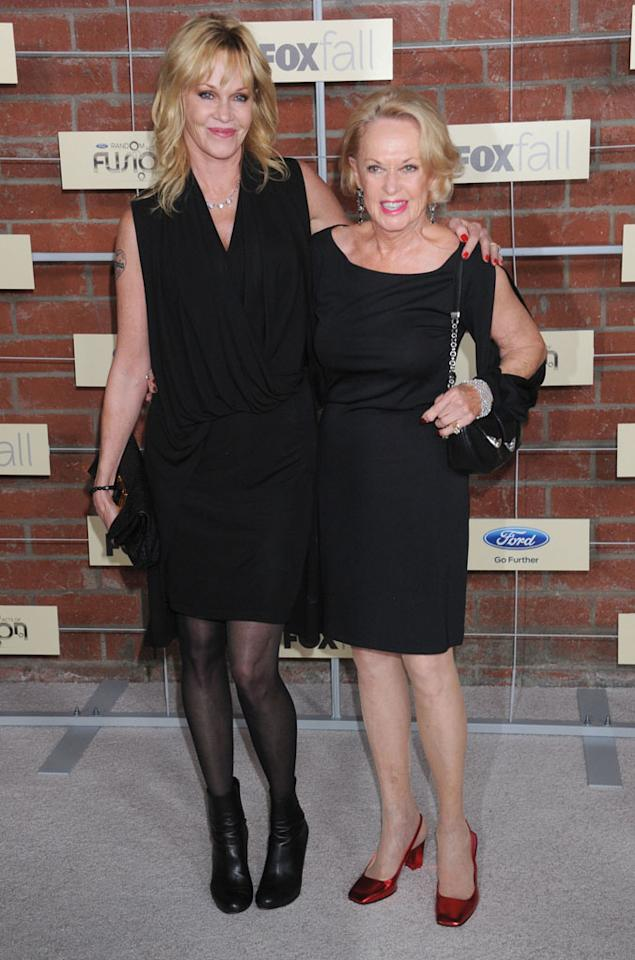 Melanie Griffith and Tippi Hedren attend Fox's Fall 2012 Eco-Casino party at The Bookbindery on September 10, 2012 in Culver City, California.