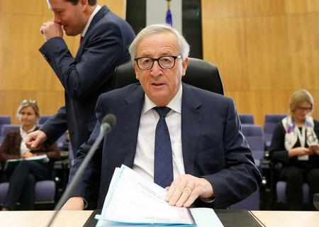 European Commission President Jean-Claude Juncker chairs the EU Commission's weekly college meeting in Brussels, Belgium November 22, 2018. REUTERS/Francois Walschaerts