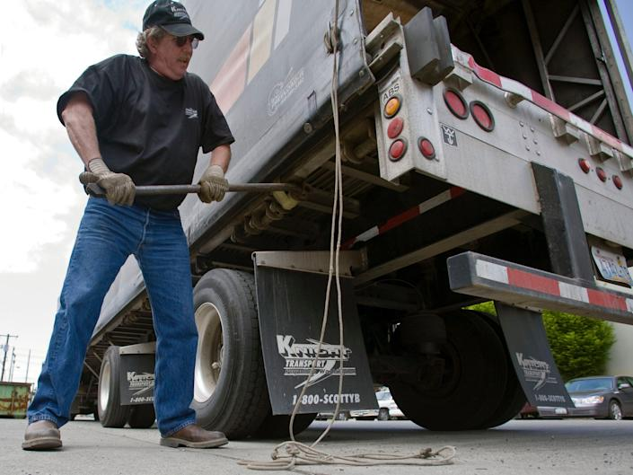 Truck drivers move 70% of America's goods by weight.