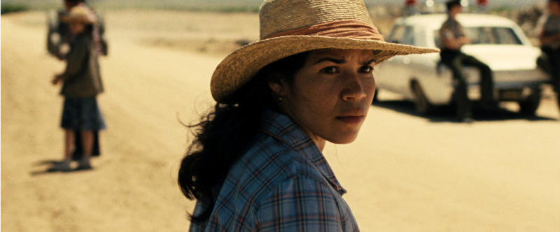"This photo released by Pantelion Films shows America Ferrera as Helen Chavez in a scene from ""Cesar Chavez."" (AP Photo/Pantelion Films)"