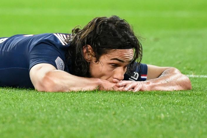 Want to know where Edinson Cavani will be after the transfer window closes? So do we. (Photo by BERTRAND GUAY/AFP via Getty Images)