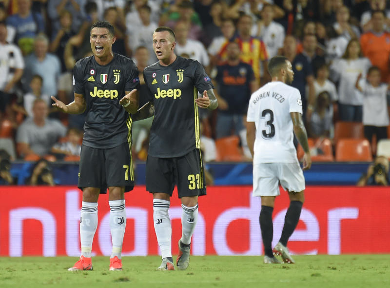 timeless design c98c9 7c59f Ronaldo sees red for first time in Champions League career