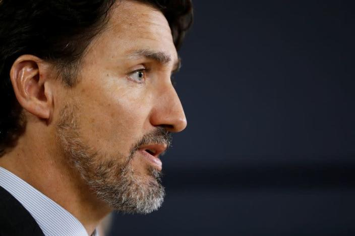 Canada's Prime Minister Justin Trudeau takes part in a news conference in Ottawa
