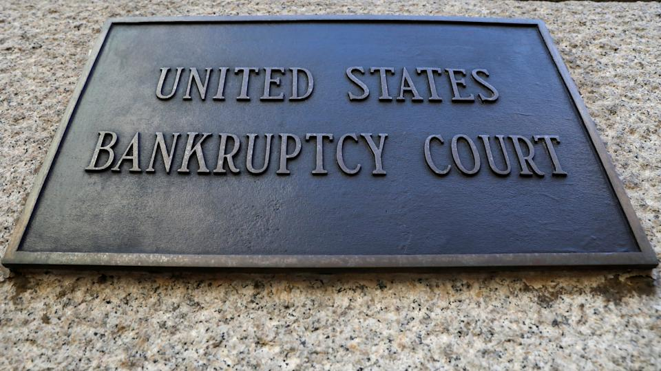 A plaque is displayed at the entrance of the U.S. District Bankruptcy Court for the Southern District of New York in Manhattan, New York, U.S., January 9, 2020. REUTERS/Brendan McDermid