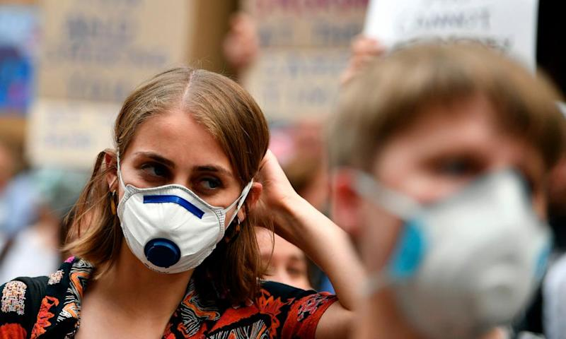 Protesters rallied in Sydney to demand urgent climate action from Australia's government