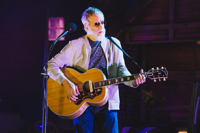 <p>The pop veteran lost Best Folk Album to Aimee Mann's <em>Mental Illness</em>. But maybe that shouldn't have come as a surprise: Yusuf's nomination for <em>The Laughing Apple</em> was his first in a career which dates back more than 50 years and includes seven top 10 albums. (Photo: Andrew Benge/Redferns) </p>
