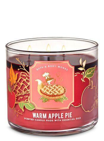 """<p><strong>Bath & Body Works</strong></p><p>bathandbodyworks.com</p><p><strong>$24.50</strong></p><p><a href=""""https://www.bathandbodyworks.com/p/warm-apple-pie-3-wick-candle-026156657.html"""" rel=""""nofollow noopener"""" target=""""_blank"""" data-ylk=""""slk:Shop Now"""" class=""""link rapid-noclick-resp"""">Shop Now</a></p><p>Fresh from Bath & Body Works' latest fall collection inspired by baked goods, enjoy the smells of Granny Smith Apples and brown sugar.</p>"""