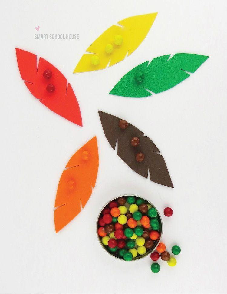 "<p>Ages 2-8 can participate in this fun, simple sorting activity. It's as educational as it is easy to explain.<br></p><p><strong>Get the tutorial at <a href=""https://www.smartschoolhouse.com/diy-crafts/thanksgiving-color-sorting-for-kids/2"" rel=""nofollow noopener"" target=""_blank"" data-ylk=""slk:Smart Schoolhouse"" class=""link rapid-noclick-resp"">Smart Schoolhouse</a>.</strong></p><p><strong><a class=""link rapid-noclick-resp"" href=""https://www.amazon.com/Pacon-PAC6555-Lightweight-Construction-Assorted/dp/B0013CDJTS?tag=syn-yahoo-20&ascsubtag=%5Bartid%7C10050.g.1201%5Bsrc%7Cyahoo-us"" rel=""nofollow noopener"" target=""_blank"" data-ylk=""slk:SHOP CONSTRUCTION PAPER"">SHOP CONSTRUCTION PAPER</a><br></strong></p>"