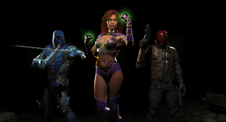 Injustice 2 DLC characters: Mortal Kombat's Sub-Zero and DC's Starfire and Red Hood