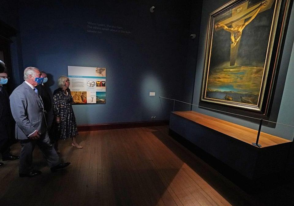 Charles viewed a Salvador Dali painting (Andrew Milligan/PA) (PA Wire)