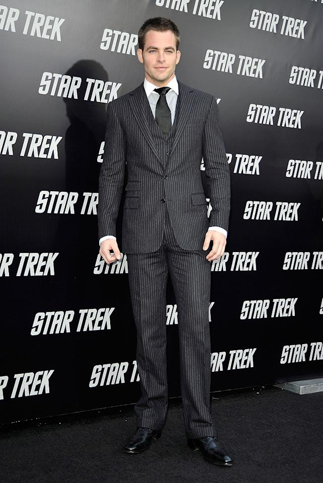 "<a href=""http://movies.yahoo.com/movie/contributor/1808520306"">Chris Pine</a> at the Los Angeles premiere of <a href=""http://movies.yahoo.com/movie/1809752801/info"">Star Trek</a> - 04/30/2009"