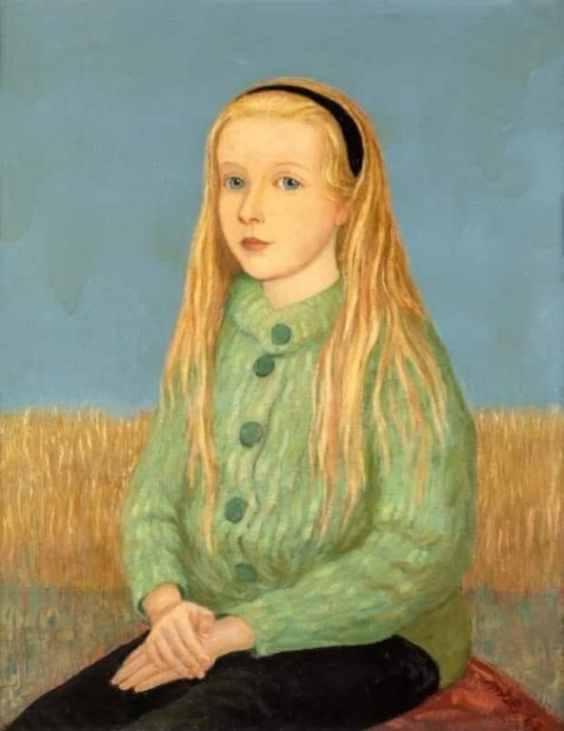 An oil painting by Miller Brittain, titled Portrait of Jennifer.  (Citadel Gallery - image credit)