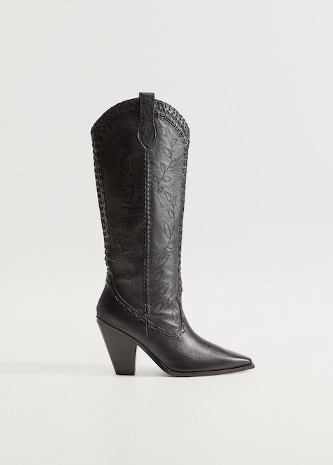 """<br><br><strong>Mango</strong> Leather Boots With Tall Leg, $, available at <a href=""""https://go.skimresources.com/?id=30283X879131&url=https%3A%2F%2Fshop.mango.com%2Fus%2Fwomen%2Fshoes-leather%2Fleather-boots-with-tall-leg_77073255.html"""" rel=""""nofollow noopener"""" target=""""_blank"""" data-ylk=""""slk:Mango"""" class=""""link rapid-noclick-resp"""">Mango</a>"""