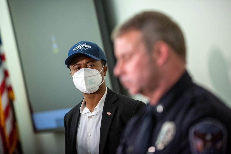 <p>Mike Elliott has fired the city's police chief Tim Gannon</p> (AFP via Getty)