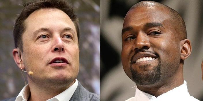 Elon Musk and Kanye West.