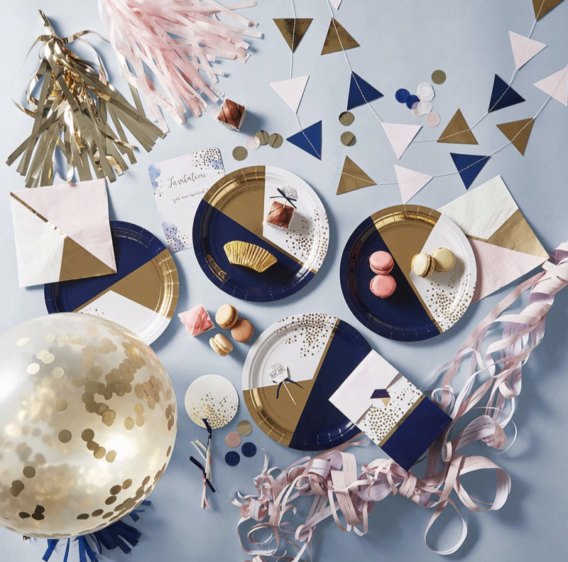 Target's metallic party themed products. Photo: Target.