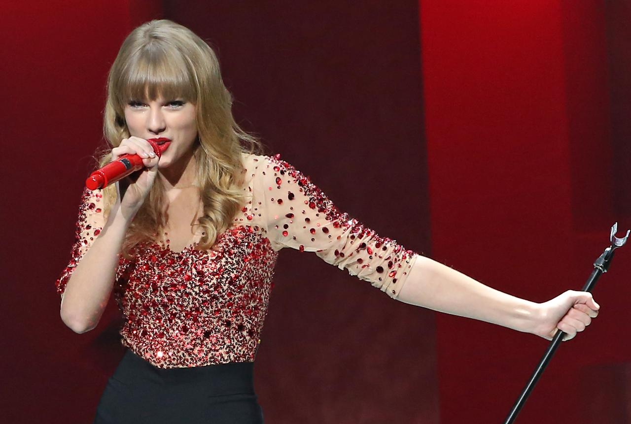 "Slight Surprise: Taylor Swift's ""We Are Never Ever Getting Back Together"" was nominated for Record of the Year and Song of the Year. Swift was nominated in both categories three years ago with ""You Belong With Me."" Swift (who co-hosted the nominations TV show with LL Cool J) probably cares more about receiving a nomination next year for the album, which was released too late for consideration this year. (Jason Aldean's Night Train was also released too late for consideration this year.)"