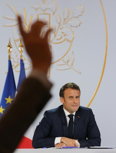 The press conference gave reporters a rare chance to question Macron, who had previously only spoken to media at press conferences during foreign trips or at home with foreign leaders