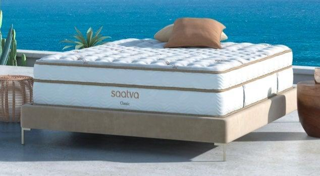 "<h2>Saatva</h2><br>Saatva crafts its top-rated mattresses with <a href=""https://www.saatva.com/blog/saatva-supports-environment-earth-day/"" rel=""nofollow noopener"" target=""_blank"" data-ylk=""slk:eco-friendly foams, organic cotton, and recycled steel innerspring coils"" class=""link rapid-noclick-resp"">eco-friendly foams, organic cotton, and recycled steel innerspring coils</a>. All of the retailer's products are made to protect sleepers from harmful chemicals and reduce the company's carbon footprint.<br><br><em>Shop</em> <strong><em><a href=""http://saatva.com"" rel=""nofollow noopener"" target=""_blank"" data-ylk=""slk:Saatva"" class=""link rapid-noclick-resp"">Saatva</a></em></strong><br><br><strong>Saatva</strong> Classic Mattress, $, available at <a href=""https://go.skimresources.com/?id=30283X879131&url=https%3A%2F%2Fwww.saatva.com%2Fmattresses%2Fsaatva-classic"" rel=""nofollow noopener"" target=""_blank"" data-ylk=""slk:Saatva"" class=""link rapid-noclick-resp"">Saatva</a>"