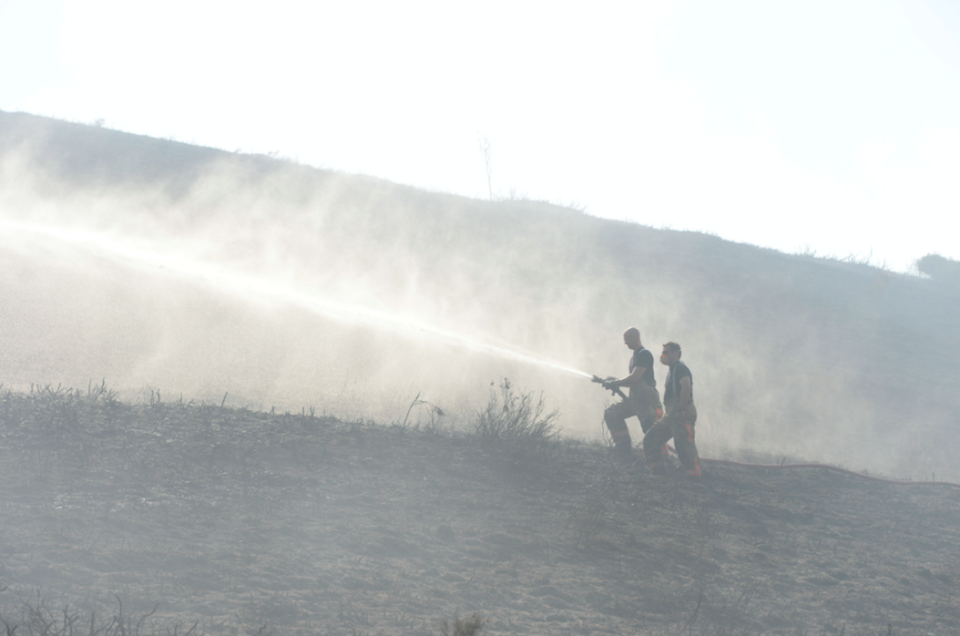 <em>Firefighters have been tackling the blaze for more than a week (SWNS)</em>