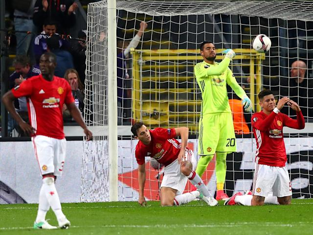 It was another frustrating night for the Red Devils: Getty