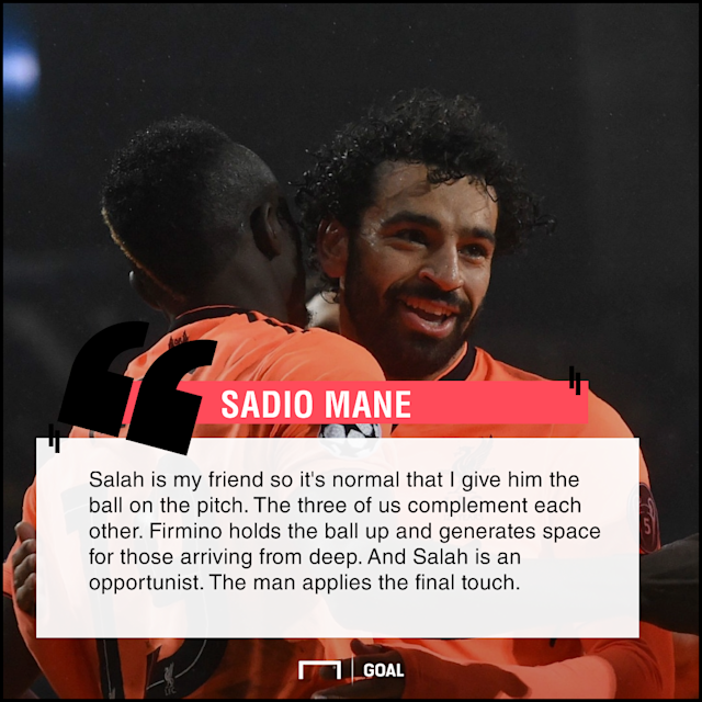 The 26-year-old has revealed his partnership with the Egypt and Brazil internationals on the field which has helped the Reds to an impressive season